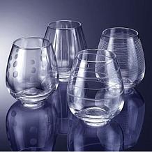 """Mikasa """"Cheers"""" Stemless Wine Glasses"""