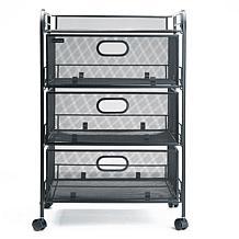 Mind Reader 4-Drawer Rolling Mesh Office Storage Cart