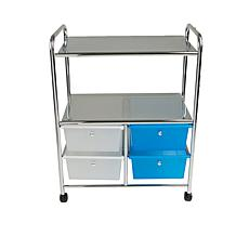 Mind Reader All Purpose Utility Cart w/Handles and 4 Storage Drawers