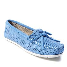 Minnetonka Genuine Suede Perforated Moccasin