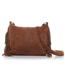 Minnetonka Suede Fringe Hobo Bag