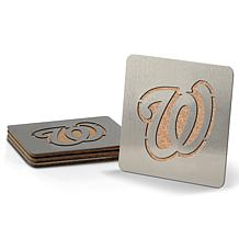 MLB Boasters 4-piece Coaster Set - Washington Nationals