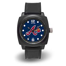 "MLB Sparo Team Logo ""Prompt"" Black Strap Sports Watch - Braves"