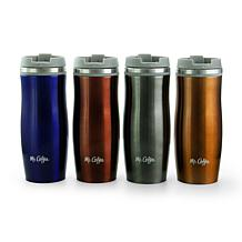 Mr. Coffee Kendrick 4 Piece Stainless Steel 10 Ounce Thermal Travel...