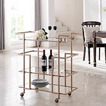 Nanetta Art Deco Bar Cart - Copper