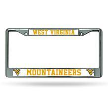 NCAA Chrome License Plate Frame - West Virginia
