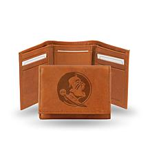 NCAA Embossed Leather Trifold Wallet - Florida State