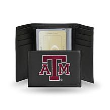 NCAA Embroidered Leather Trifold - Texas A&M