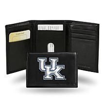NCAA Embroidered Leather Trifold Wallet - Kentucky