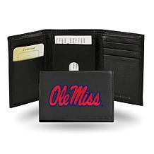 NCAA Embroidered Leather Trifold Wallet