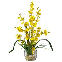 Nearly Natural Dancing Lady Orchid Silk Flower Arrangement