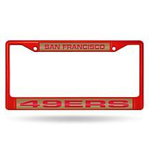 NFL Laser-Cut Chrome License Plate Frame -  49ers