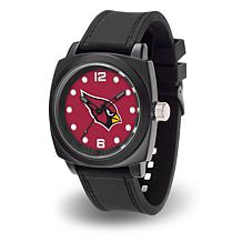 "NFL Sparo Team Logo ""Prompt"" Black Strap Sports Watch - Cardinals"