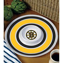 NHL Melamine Chip and Dip Serving Tray - Bruins