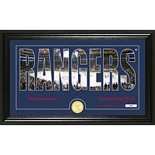 NHL Silhouette Panoramic Bronze Coin Photo Mint - New York Rangers