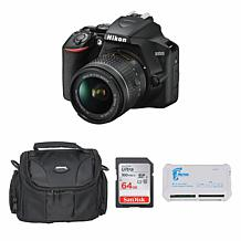 Nikon D3500 DSLR Camera with 18-55mm Lens Bundle