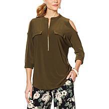 ec6140eea4d7 Nina Leonard Cold-Shoulder Tunic