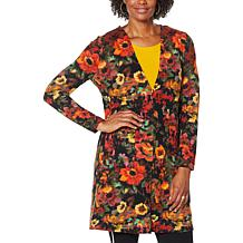 Nina Leonard Dolce Knit Duster Cardigan with Pockets
