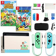 Nintendo Switch Animal Crossing Special Edition Console with 2 Games
