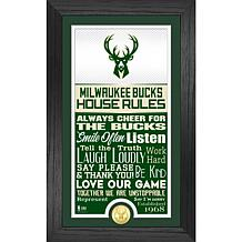 Officially Licensed Milwaukee Bucks House Rules Bronze Coin Photo Mint