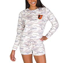 Officially Licensed MLB Concept Sport Ladies Top and Short Set-Orioles
