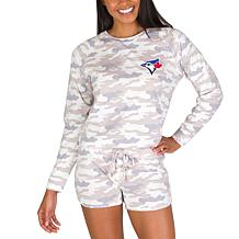 Officially Licensed MLB Concept Sport Ladies Top and Short - Blue Jays