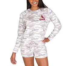 Officially Licensed MLB Concept Sport Ladies Top and Short - Cardinals