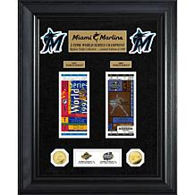 Officially Licensed MLB Marlins World Series Coin & Ticket Collection