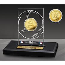 Officially Licensed MLB Miami Marlins Champions Acrylic Gold Coin