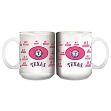 """Officially Licensed MLB """"Mom"""" White Mug - Rangers"""