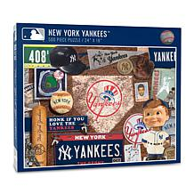 Officially Licensed MLB New York Yankees Retro Series 500-Piece Puzzle