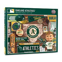 Officially Licensed MLB Oakland Athletics Retro 500-Piece Puzzle