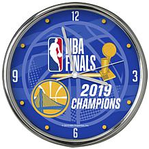 Officially Licensed NBA 2019 Champions Black Rimmed Clock
