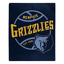 Officially Licensed NBA Black Top Raschel Throw Blanket - Grizzlies