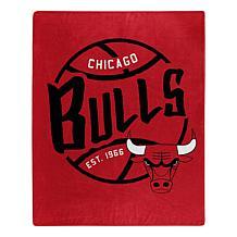 Officially Licensed NBA Black Top Raschel Throw - Bulls