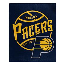 Officially Licensed NBA Black Top Raschel Throw - Pacers