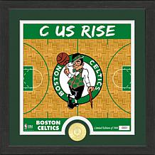 Officially Licensed NBA Celtics Battle Cry Bronze Coin Photo Mint