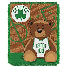 """Officially Licensed NBA Celtics """"Half-Court"""" Baby Woven Jacquard Throw"""
