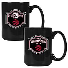 Officially Licensed NBA Champion 15 oz. Team Colored Mug Set