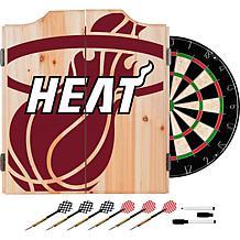 Officially Licensed NBA Dart Cabinet Set - Fade - Miami Heat