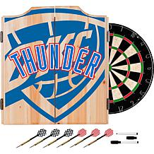 Officially Licensed NBA Dart Cabinet Set - Fade- Oklahoma City Thun...