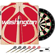 Officially Licensed NBA Dart Cabinet Set - Fade - Washington Wizards