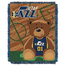 """Officially Licensed NBA Jazz """"Half-Court"""" Baby Woven Jacquard Throw"""