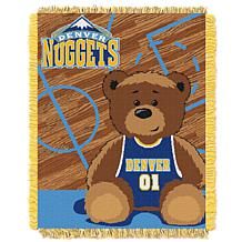 """Officially Licensed NBA Nuggets """"Half-Court"""" Baby Woven Jacquard Throw"""