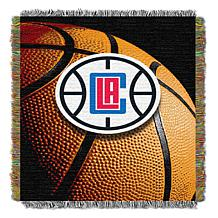 """Officially Licensed NBA """"Photo Real"""" Woven Tapestry Throw - Clippers"""