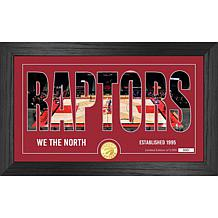 Officially Licensed NBA Silhouette Bronze Coin Photo Mint - Toronto