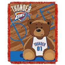 """Officially Licensed NBA Thunder """"Half-Court"""" Baby Woven Jacquard Throw"""