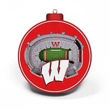 Officially Licensed NCAA 3D StadiumView Ornament 2-pack - Wisconsin