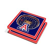 Officially Licensed NCAA Arizona Wildcats 3-D StadiumViews Coaster Set