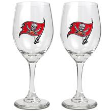 Officially Licensed NFL 2pc Wine Glass Set-Tampa Bay
